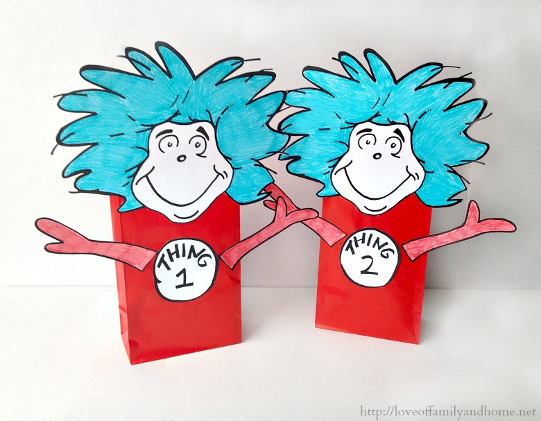 Thing 1 Thing 2 Dr Seuss Party Favors Treat Bags Love Of Family