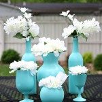 Easy, Inexpensive Centerpiece Ideas {Spray Painted Vases}