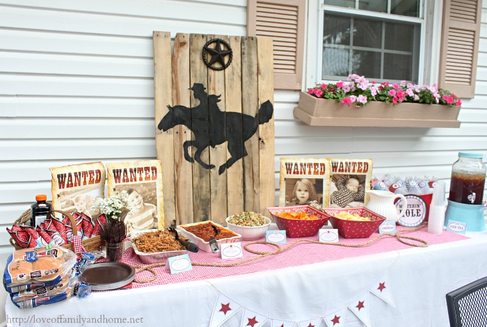 Cowboy Birthday Party Ideas {Parker Turns 7} - Love of Family & Home