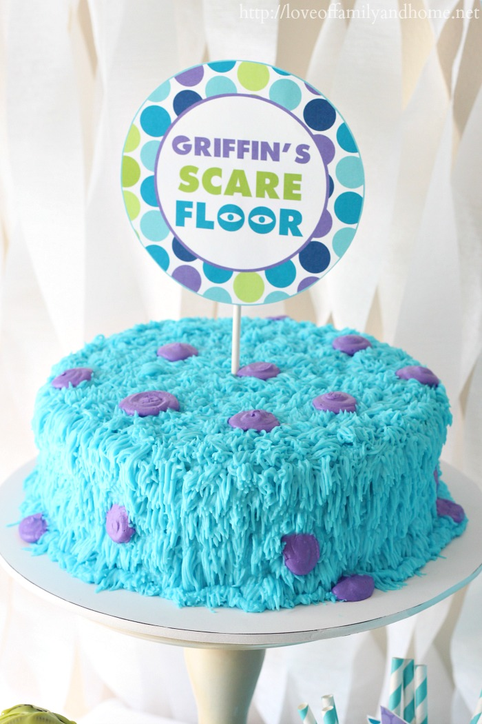 Monsters Inc Birthday Party Love Of Family Home