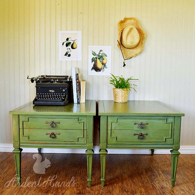 Green French Country End Tables wm1