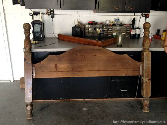 Diy Faux Fireplace Mantel From An Old Bed Love Of