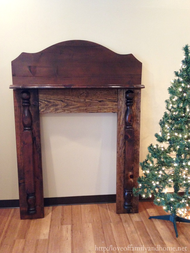 Diy Faux Fireplace Mantel Love Of Family