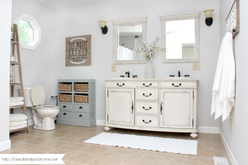 Farmhouse Style Bathroom Makeover Love Of Family Home