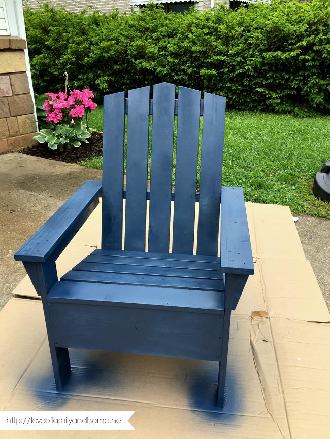 Merveilleux Spray Painted Adirondack Chair 5