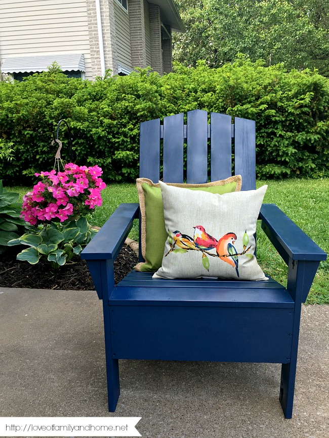 Spray Painted Adirondack Chair Love Of Family Home
