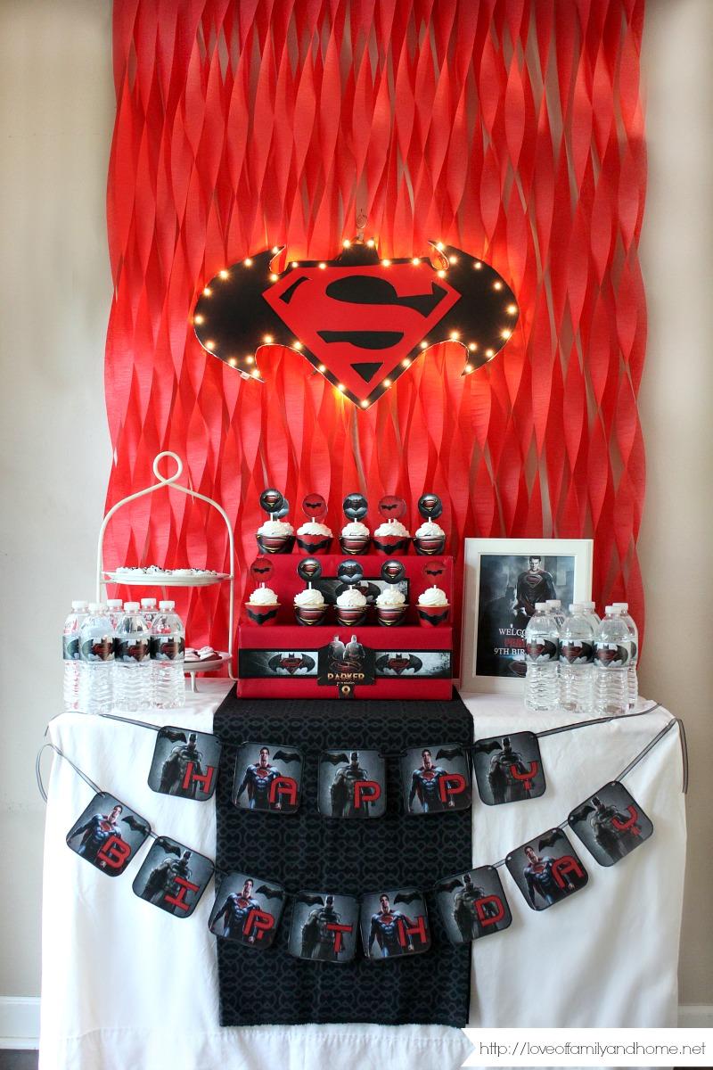Batman Vs Superman Birthday Party Love Of Family Amp Home