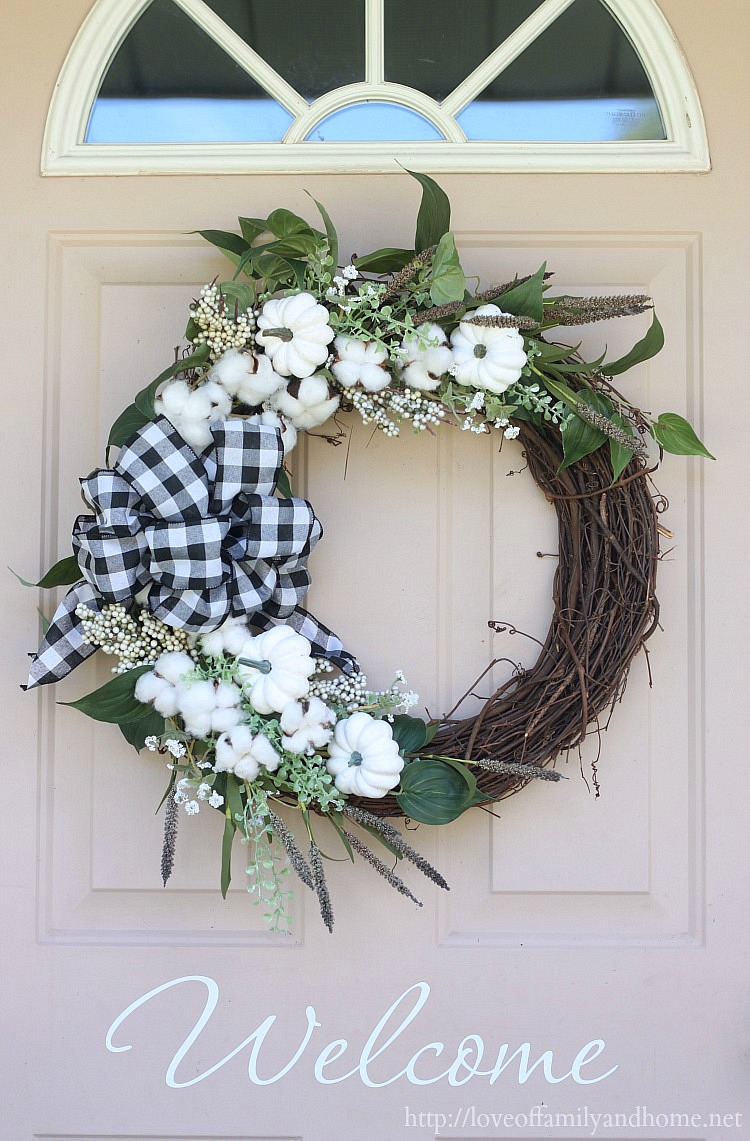 Black White Fall Wreath Love Of Family Home
